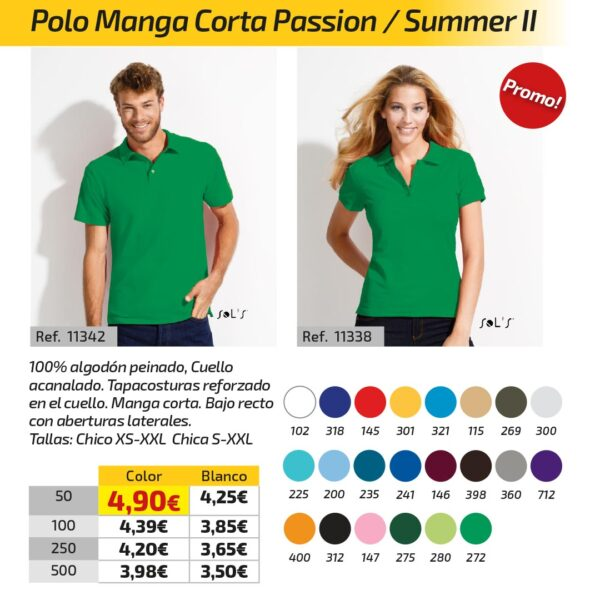 Polo Manga Corta Passion / Summer II