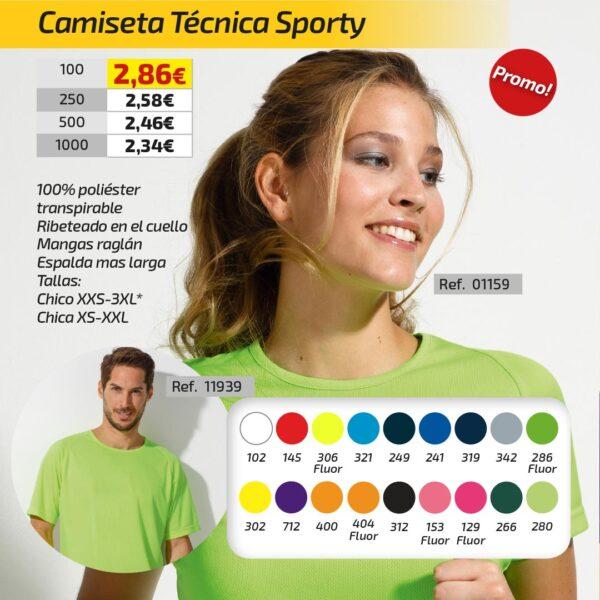 Camiseta Técnica Sporty