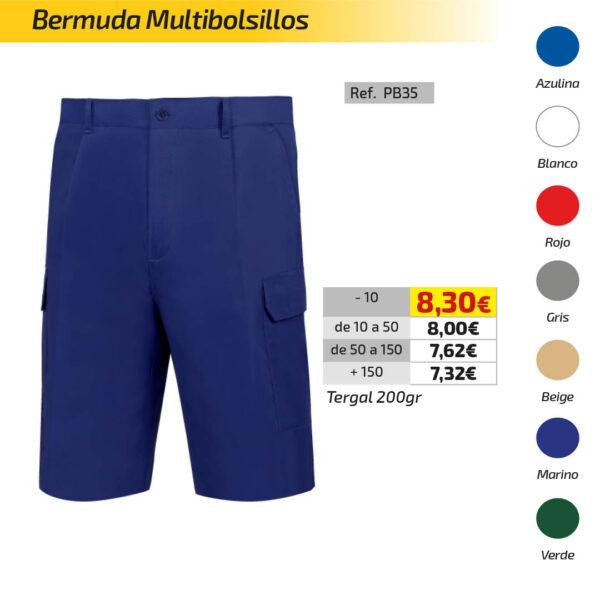 Bermuda multibolsillo